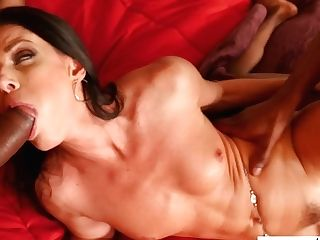 Stunning Cougar India Summer Is Having Dirty Hook-up With Stepson And His Black Friend