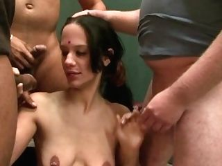 Whiteghetto Indian Honey Creampied In Group Sex